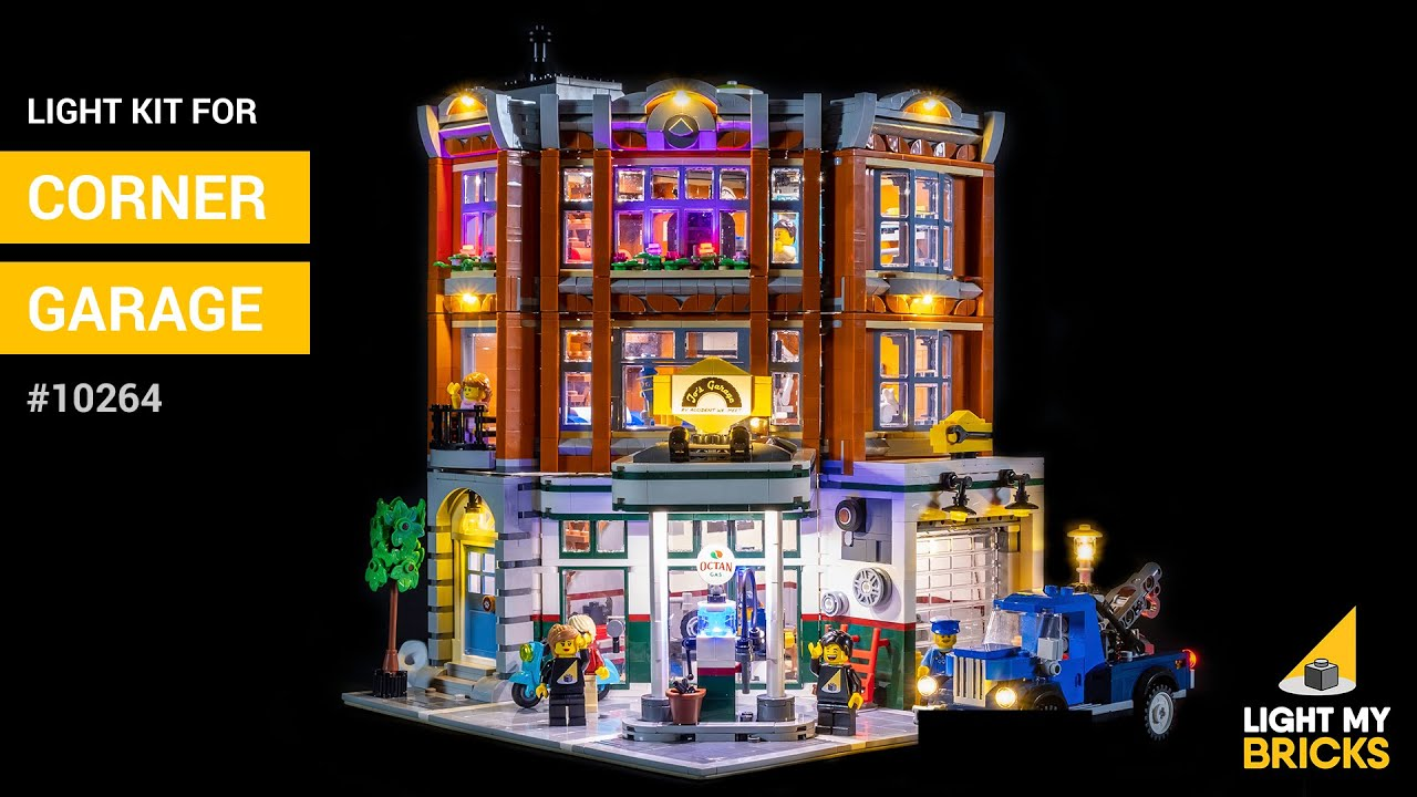 LED Lighting kit fits LEGO ® Corner Garage 10264