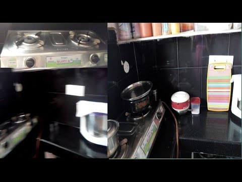 Kitchen counter top cleaning& gas stove cleaning