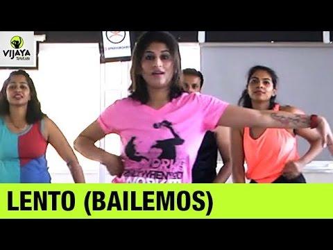 Zumba Routine on Lento (Bailemos) | Zumba Workout Routine | Choreographed by Vijaya Tupurani