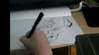 drawing seyia - from the knights of zodiac - HD