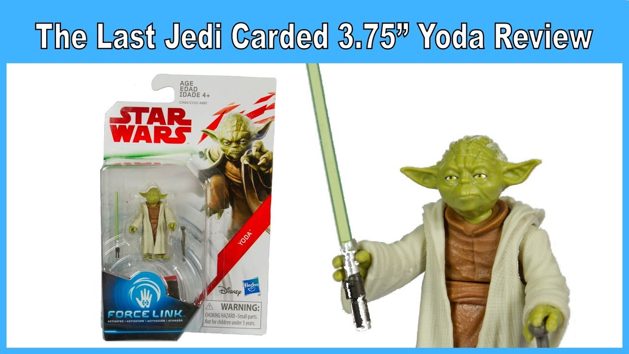 Star Wars The Last Jedi Yoda Force Link 3.75 Inch Action Figure NEW