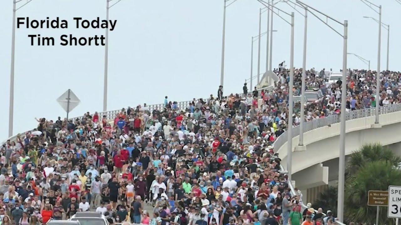 Titusville bridge open to SpaceX launch crowds despite virus concerns - WKMG News 6 ClickOrlando