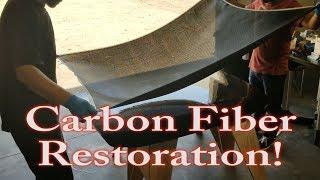 Carbon fiber hood restoration (how to restore carbon fiber parts)