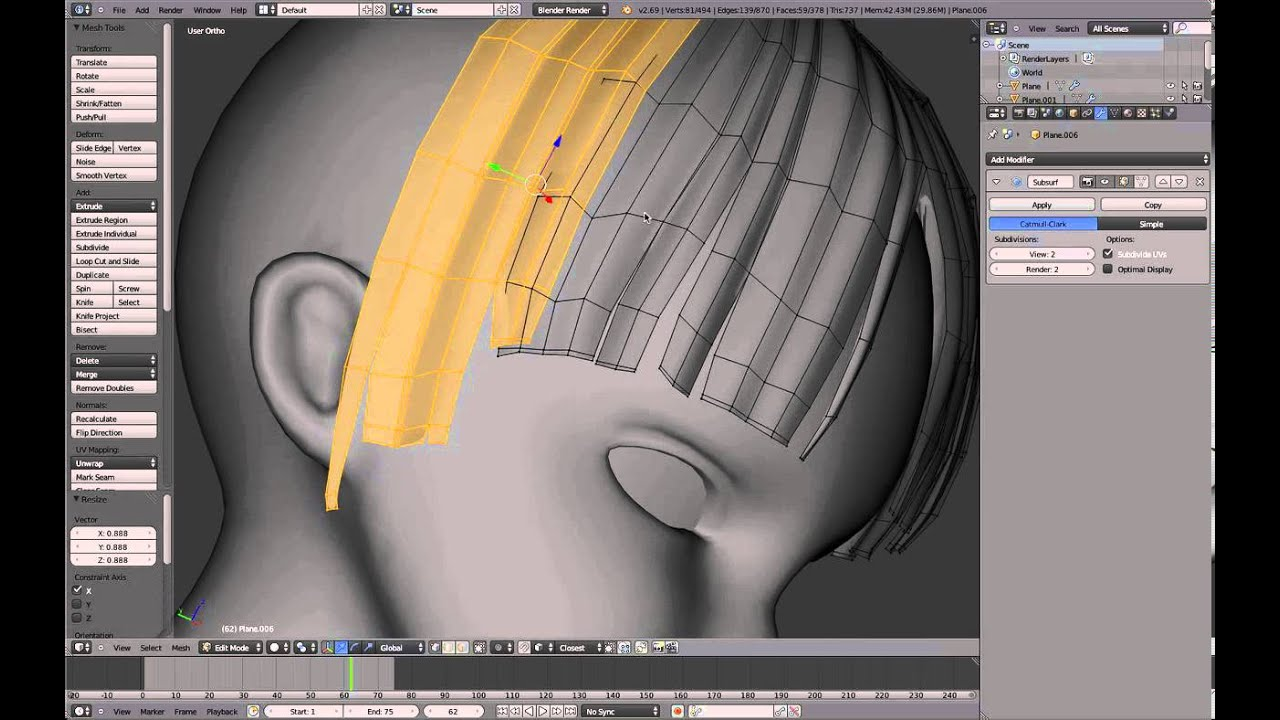 Blender Anime Character Modeling Tutorial : Part blender anime character modeling tutorial