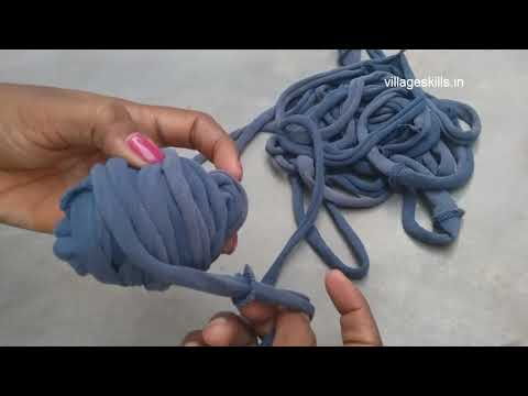 How to make T-shirt yarn for doormat/crochet rugs/Carpets ,T-shirts recycling ideas ,DIY hacks,reuse