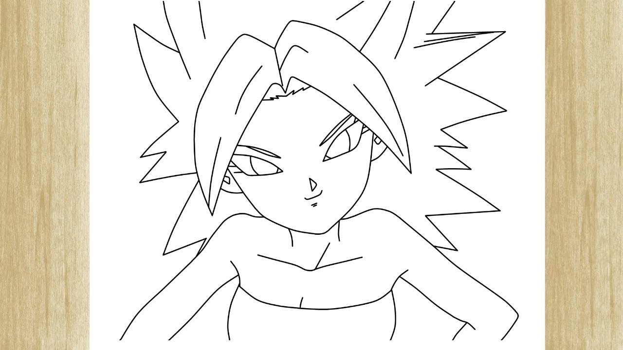 how to draw caulifla from dragon ball super como desenhar a