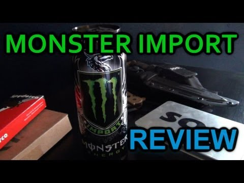"""Improved Monster"" - Energy Drink Review: ""Monster Import"""