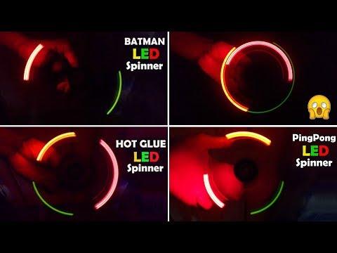 7 Super Awesome DIY LED Fidget Spinner compilation
