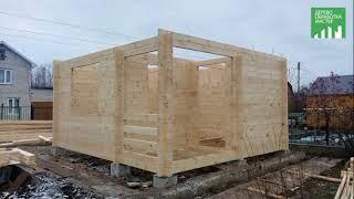 видео Строительство брусовых домов в зимнее время