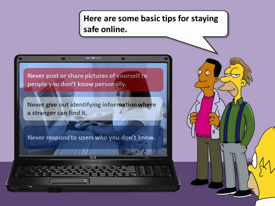 esafety how to stay safe online the simpsons youtube