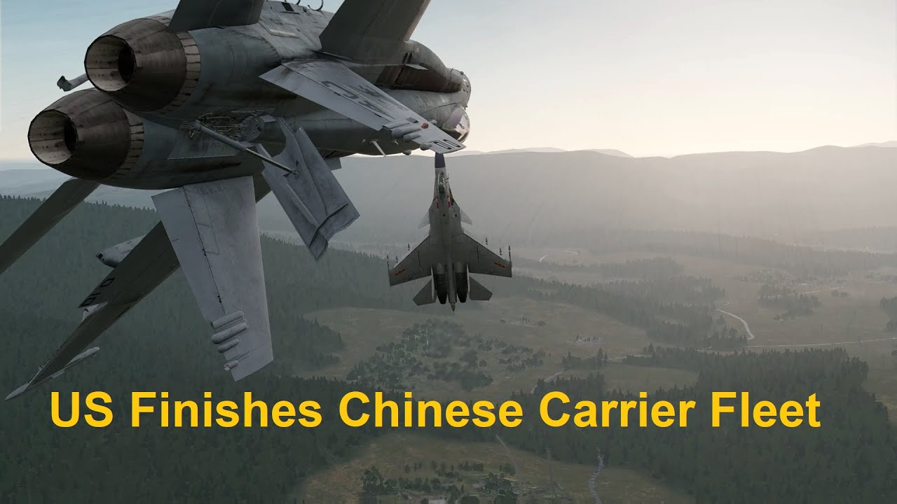 US Destroys Entire Chinese Carrier Fleet just like Pearl Harbor. South China Sea,  DCS WORLD SIM