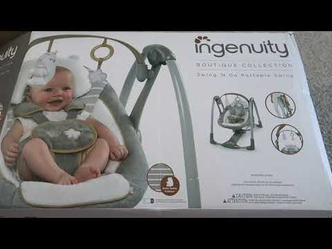 Ingenuity Swing 'n Go Portable Swing Unboxing & Setup