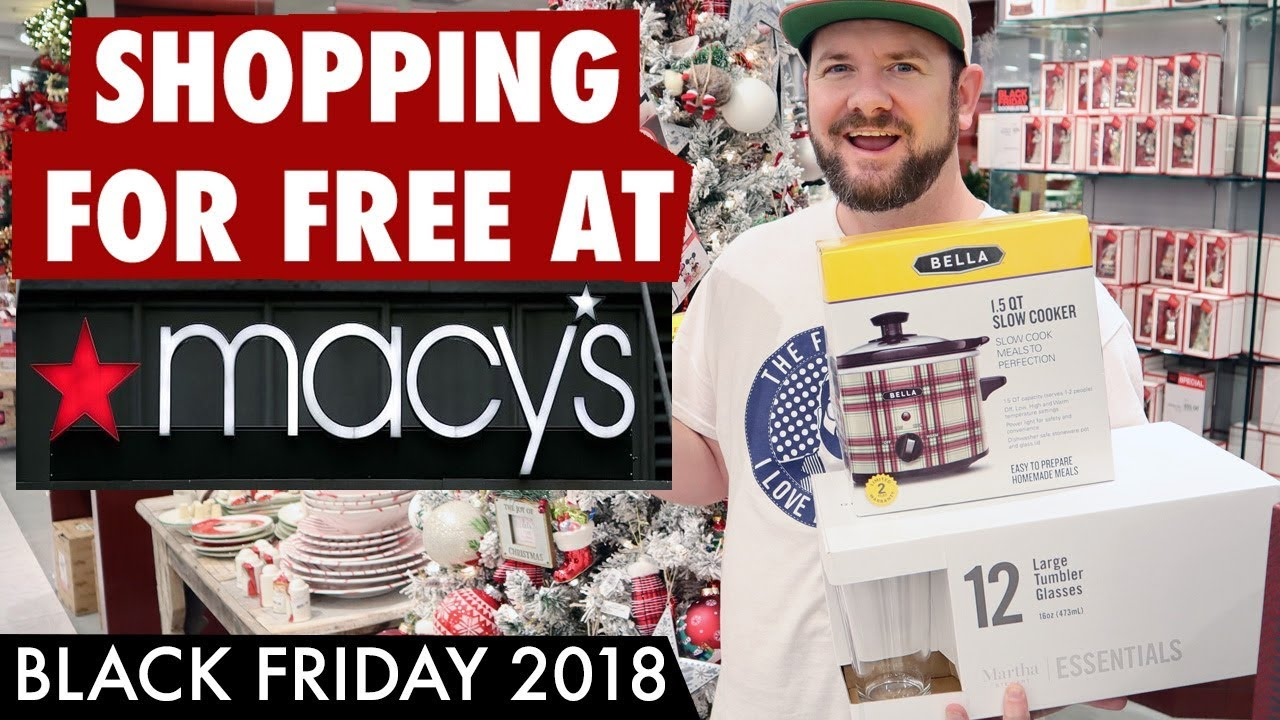 FREE STUFF at MACYS! Black Friday 2018 - Free Slow Cooker, Free Glasses, Free Pillows! YASS!!