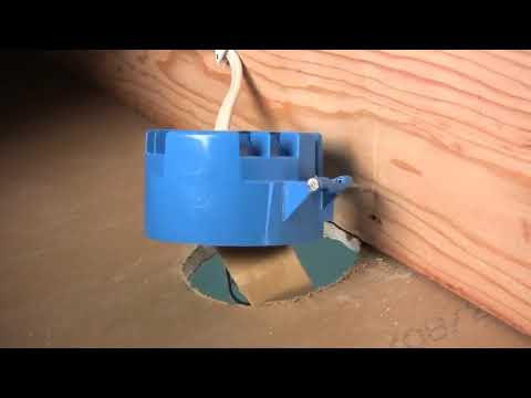 Remove Plastic Electrical Junction Box And Install A Ceiling Fan Brace Youtube