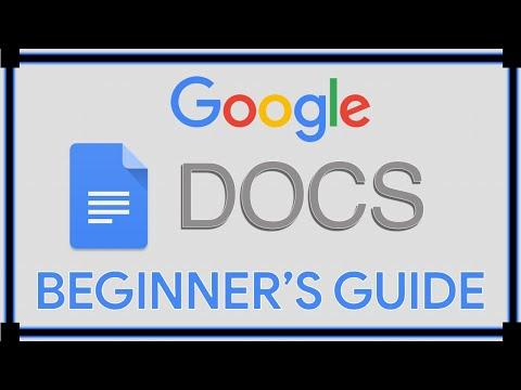 Beginner's Guide to Google Docs
