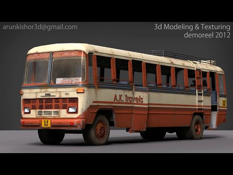 3d Modeling & Texturing demoreel 2012 by Arun kishor