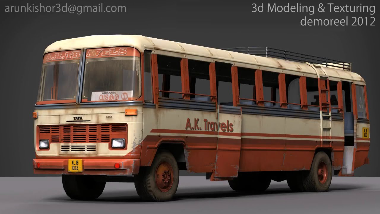 Arun Kishor - Tata 1510 transport bus: 3d Model and Texture
