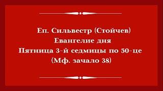 Еп. Сильвестр (Стойчев). 26.06.2020. Евангелие дня с толкованием