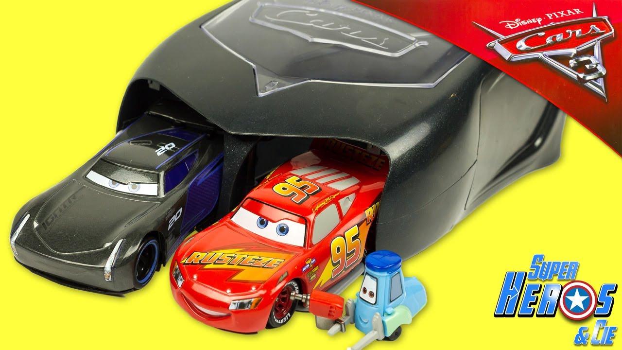 disney cars 3 lanceur pit crew jackson storm flash mcqueen. Black Bedroom Furniture Sets. Home Design Ideas