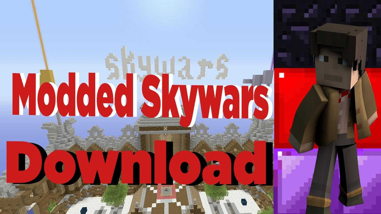 Minecraft Xbox OnePSPSWII U MODDED SKYWARS SERVER MAP - Minecraft server map erstellen