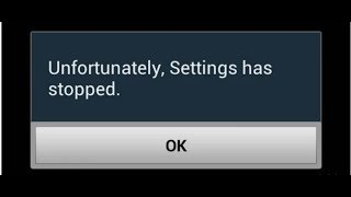 Unfortunately setting has stopped working in Android phone.[bangla]