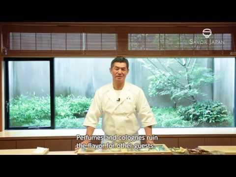 Learn from the master chef how to eat -SUSHI-