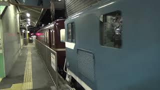 デキ108+12系4両+デキ201 急行三峰51号熊谷入線