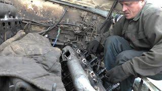 Впервые на Ютубе! ОДИН снимаю гбц Ямз-238 Урал лесовоз.
