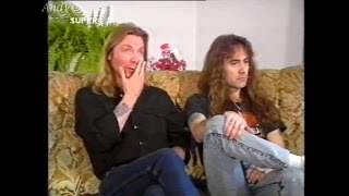 Steve Harris & Dave Murray (Iron Maiden) interview ,Super Channel (1988)
