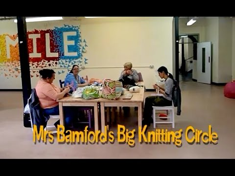 Making Dementia Sleeves with Mrs Bamford's Knitting Circle