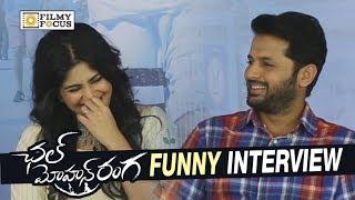Nithin and Megha Akash Funny Interview about Chal Mohana Ranga Movie - Filmyfocus.com