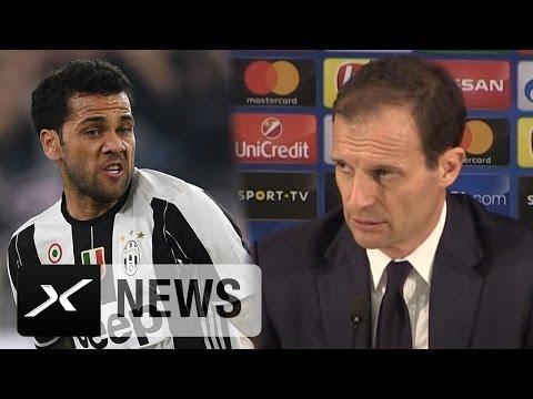 "Massimiliano Allegri: ""Dani Alves ist ein Champion"" | Juventus - FC Porto 2:0"