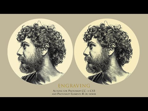 Engraving Photoshop Actions