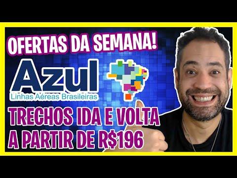 OFERTAS DA SEMANA AZUL! IDA E VOLTA A R$196! PROMOÇÃO AZUL!