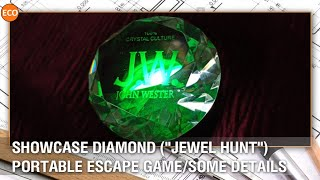 "Showcase diamond (""Jewel hunt""). Portable escape game/Some details."
