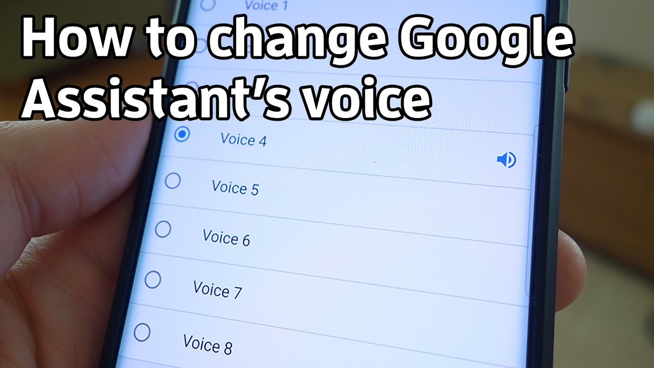How to change Google Assistant's voice