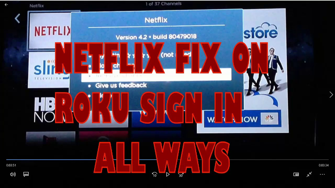 cant download netflix on roku