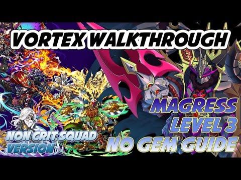 Brave Frontier : Magress Lv 3 Clear ^^ (Non Crit Team No Gem) Walkthrough