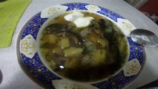 Вкуснейший суп из сухих грибов