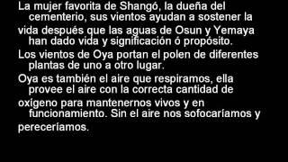 OYA [Orisha del Cementerio, del aire, del relampago y comparte con Chango el Rayo y el Fuego]