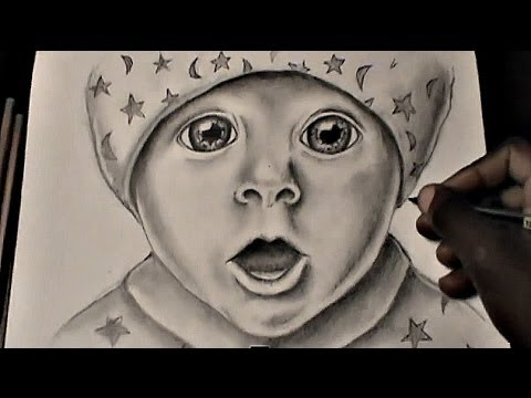 HOW TO DRAW A BABY FACE (for beginners) - YouTube
