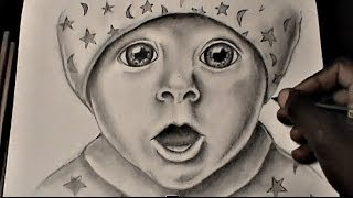 HOW TO DRAW A BABY FACE (for beginners)