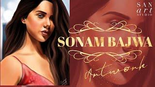 Sonam Bajwa Painting