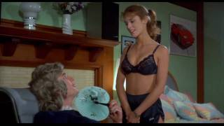 Betsy Russell (Private School) Sexy striptease busty bra & shorts hot body - 720p