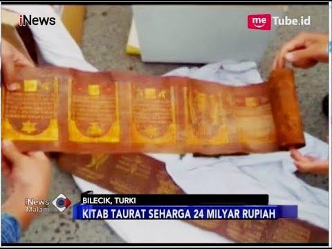 Turki Temukan Gulungan Kitab Taurat Seharga Rp24 Miliar Inews Malam 18 06 Youtube