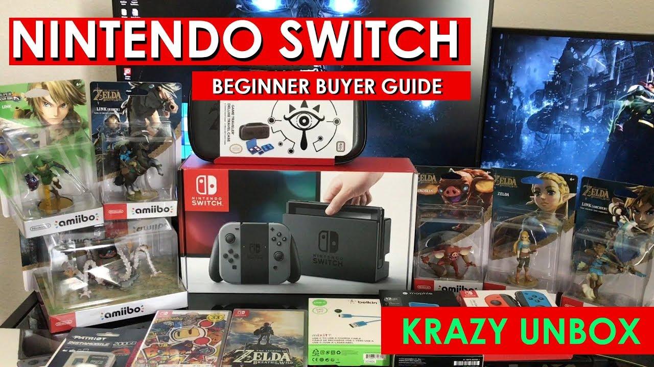 Nintendo Switch Beginner Buyers Guide Youtube Grey Bundle 2game 2amiibo