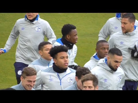 Schalke Train Ahead Of Manchester City Champions League Tie