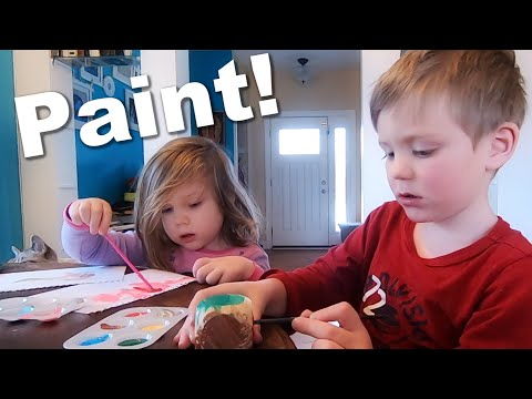 Autistic Sisters Paint Together| Family Art Time