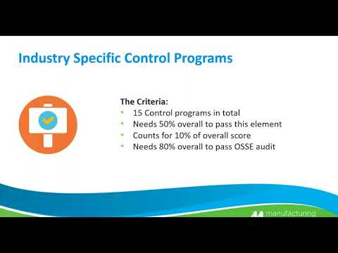 SEPB ELEMENT C - Industry Specific Programs Part One