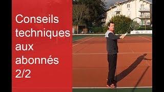 Conseils techniques tennis pour les vidéos des abonnés (2/2)